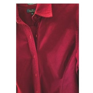 Woman's Fine Cord Fitted Blouse Faconnable XL